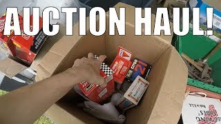 Consignment Auction Vlog - Buying Box Lots of Goodies! Tools + Toys