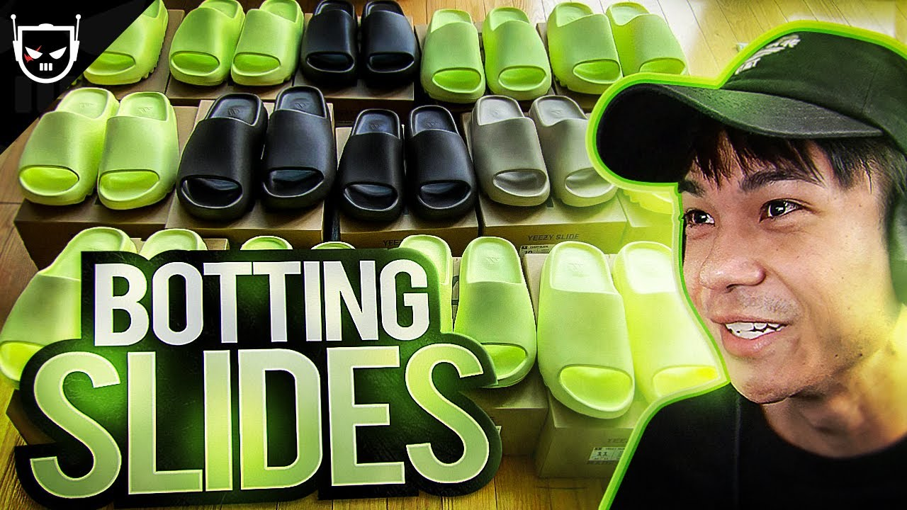 Download Botting the Yeezy Slide Glow Green Live Cop - Sneaker Reselling Vlog
