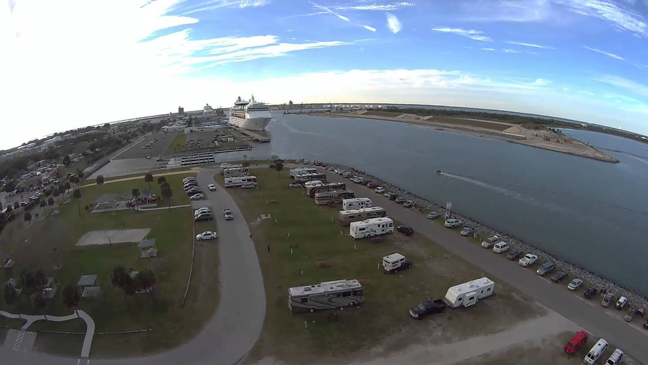 Port Canaveral Jetty Park Blade 350 Qx Flyover Aerial Video You Campground