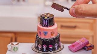 Perfect Miniature BTS CAKE Decorating  So Tasty Miniature BLACKPINK CAKE Decorating  Tiny Cakes