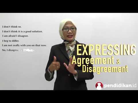 Kelas 9 - Bahasa Inggris - Expressing Agreement and Disagreement