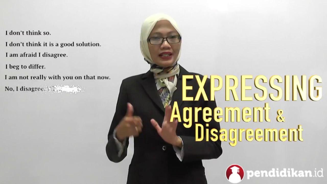 Kelas 9 Bahasa Inggris Expressing Agreement And Disagreement