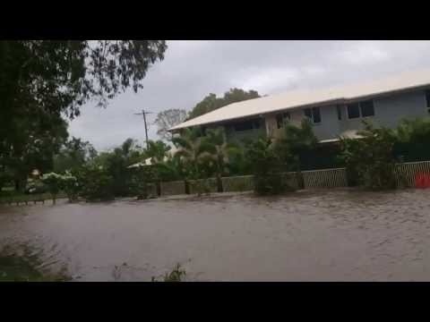 Cyclone Dylan high tide the morning after at Slade Point Mackay