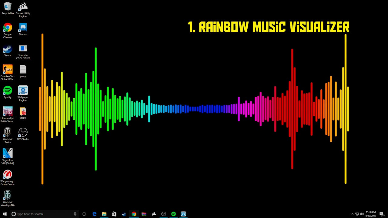 Best Wallpaper Engine Audio Visualizer Backgrounds + Links