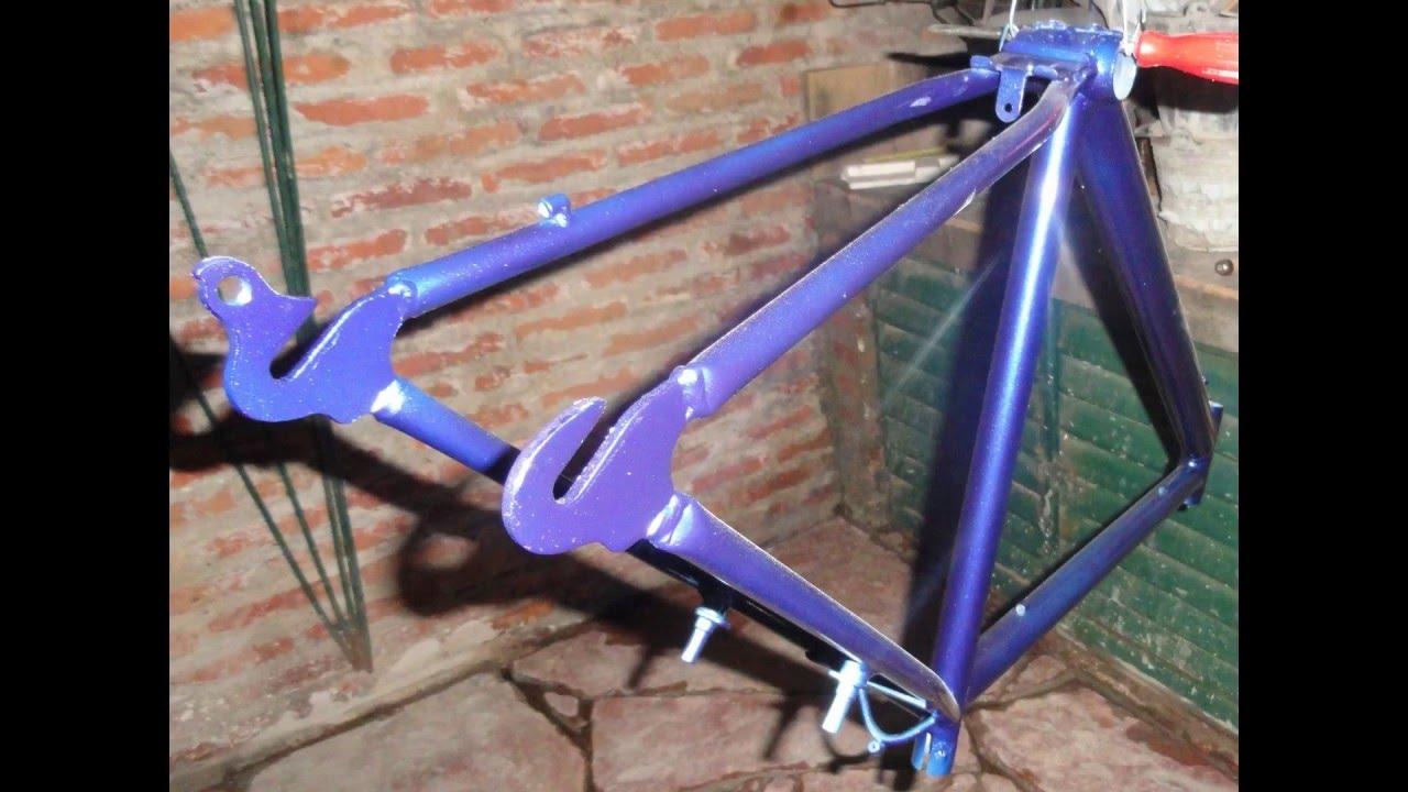 Como pintar una bicicleta correctamente paso a paso - YouTube