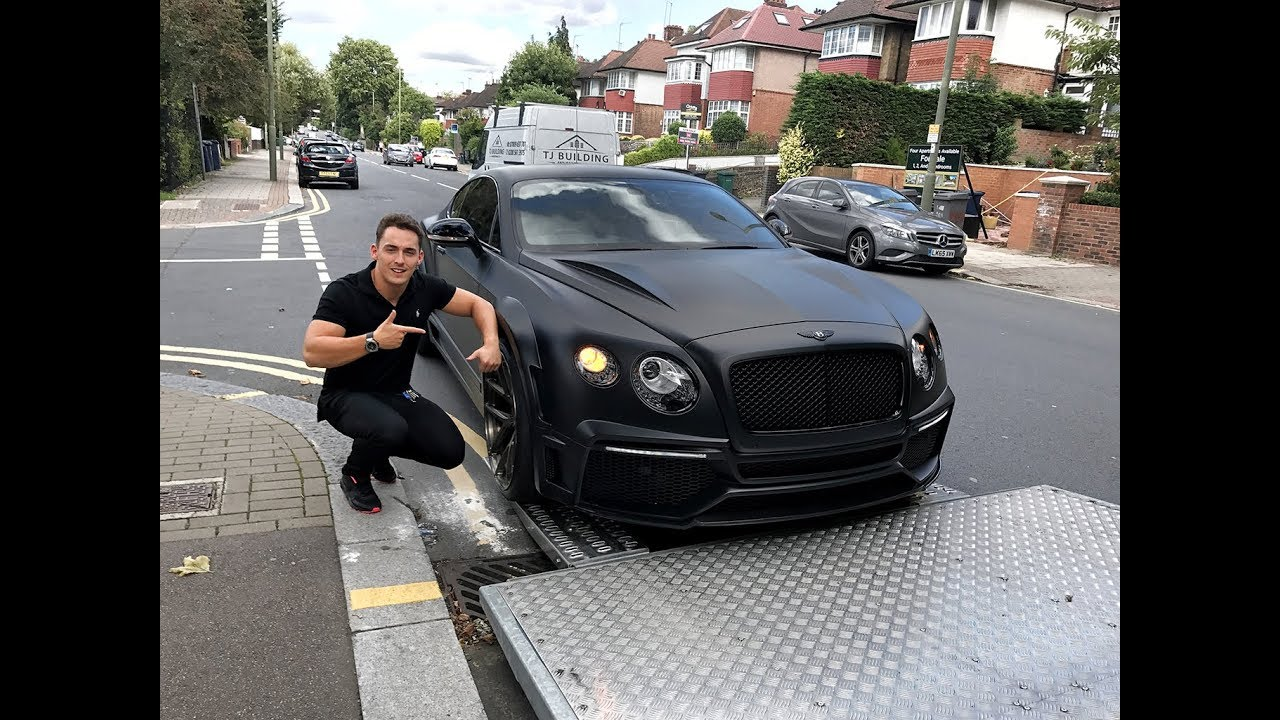 DELIVERY OF OUR REAL LIFE CUSTOM BATMAN BENTLEY 😱