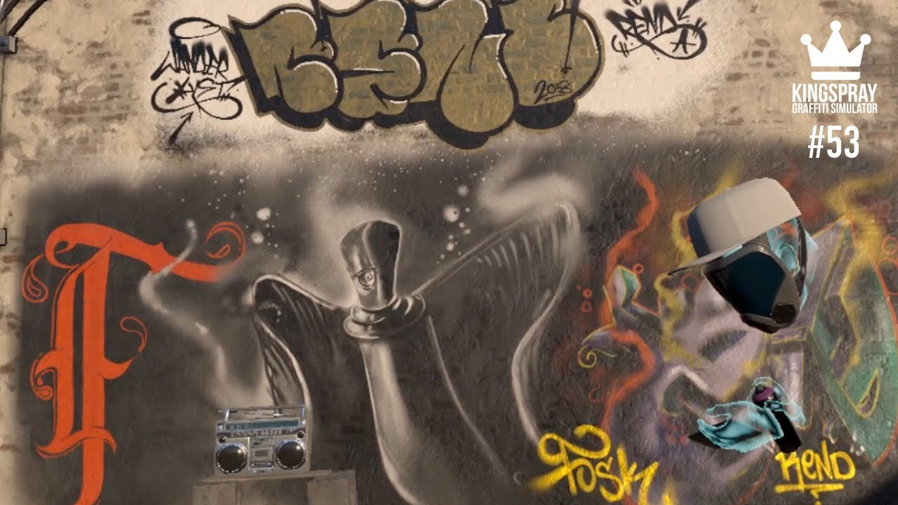 Kingspray graffiti ep53 painting online with other graffiti artist in virtual reality