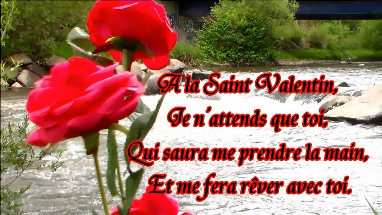 Po me de la saint valentin po sie et fleur offrir youtube - Fleur de saint valentin ...