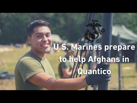 U.S. Marines prepare to help Afghans in Quantico | #WelcomeToQuantico