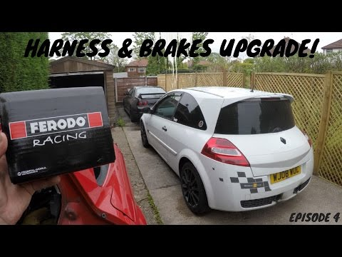 FITTING A HARNESS & UPRATED BRAKES! R26 F1 TEAM MEGANE SPORT TRACK CAR! EPISODE 4