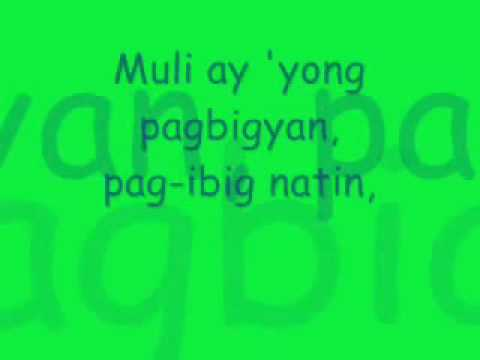 Pagbigyang Muli Lyrics  Erik Santos