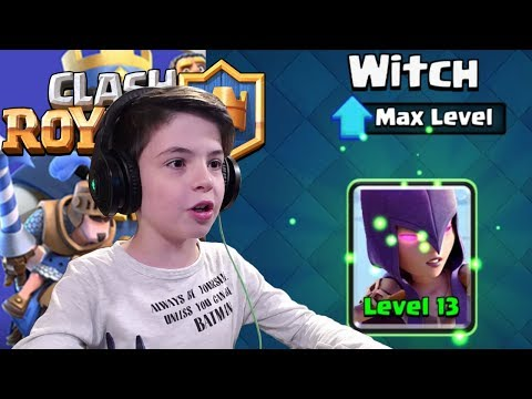 WITCH LEVEL 13 - MAX LEVEL - Clash Royale
