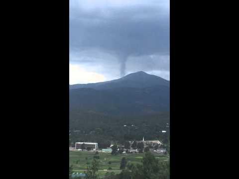 Ruidoso, NM tornado over Sierra Blanca.