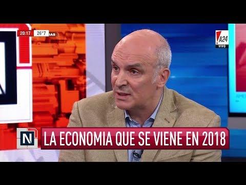 """José Luis Espert en """"América noticias"""", con R.Graña y P.Trapani - 01/01/18"""