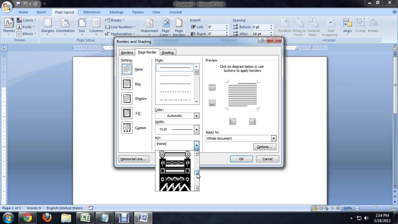 How To Create A Frame For A Page In Microsoft Word : Tech