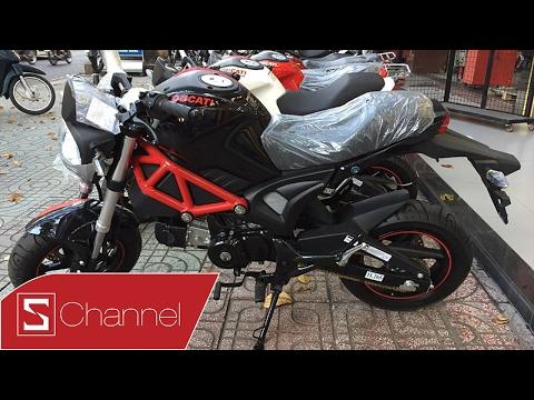 Schannel - Ducati Minibike Monster 110cc: Xe ngầu thế này mà giá chỉ 30 triệu, KHÔNG THỂ TIN NỔI!!!