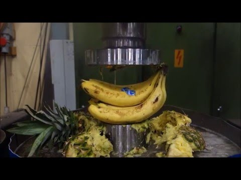 Hydraulic press kitchen: Fruit salad
