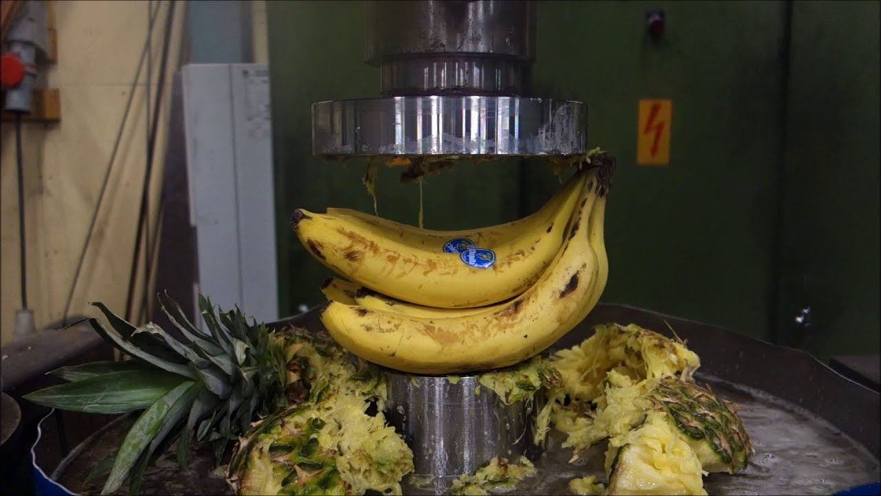 hydraulic press kitchen fruit salad youtube