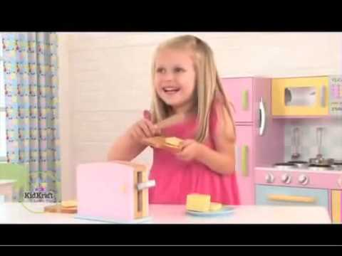 Childrens Wooden Pastel Pop Up Toy Toaster Kitchen Toys, KidKraft 63162