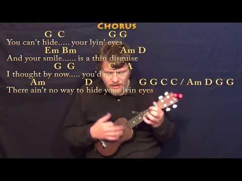 Lyin' Eyes - Ukulele Cover Lesson with Chords/Lyrics