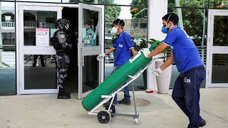 video: Brazil hospitals 'run out of oxygen' for coronavirus patients in Manaus as hundreds wait for beds