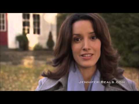 Jennifer Beals on location The Night Before the Night Before Christmas