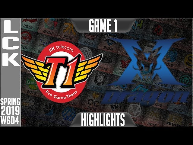 SKT vs KZ Highlights Game 1 | LCK Spring 2019 Week 6 Day 4 | SK Telecom T1 vs King-Zone DragonX G1