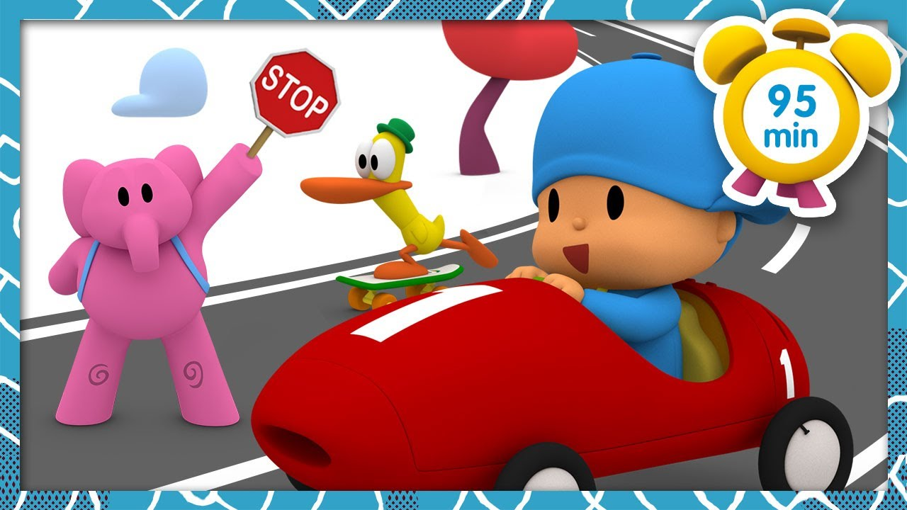 🚸 POCOYO in ENGLISH - Traffic Safety [95 min]   Full Episodes   VIDEOS and CARTOONS for KIDS