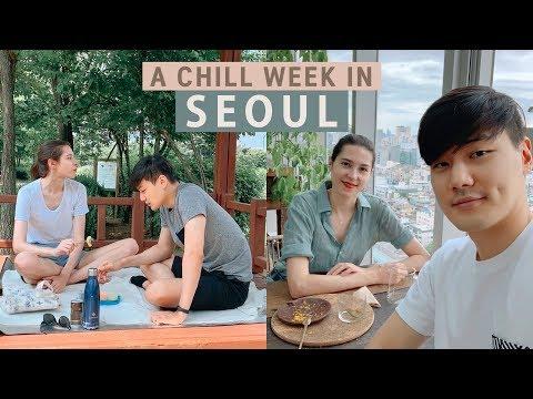 Life In Korea   A Chill Week In Seoul 한-캐 국제커플의 힐링 소확행 피크닉 일상!