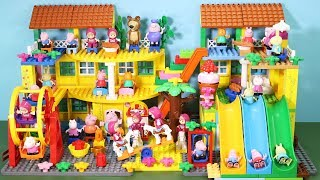 Peppa Pig Lego House With Water Slide Toys For Kids #2