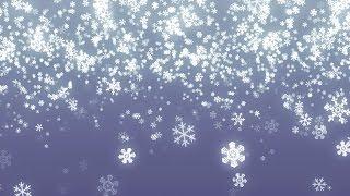 Fallende Schneeflocken Hintergrund-Schleife für Winter/Urlaub
