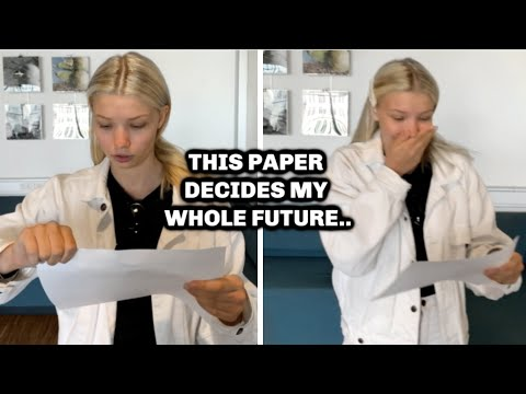 Opening My GRADE Results *LIVE REACTION* on Camera +And vlogging my crazy exam week