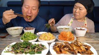 봄이라 더 맛있는 머위나물과 도루묵 조림! (Butterbur & Boiled sailfin sandfish) 집 밥 요리&먹방!! - Mukbang eating show