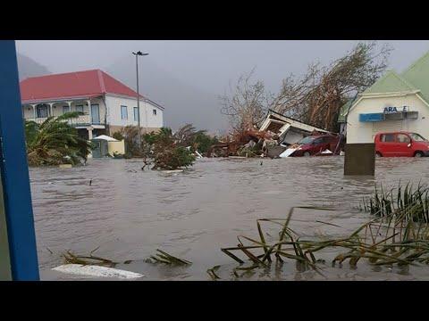 Ouragan Irma : scènes de désolation à St-Barthélemy et St-Martin