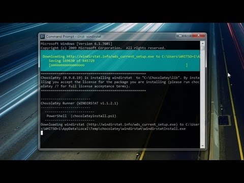 Using the Chocolatey Command Line Package Manager in Windows