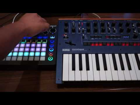 Real-Time Live Hardware Techno with Korg Monologue and Novation Circuit