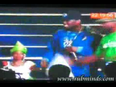 50 cent and EEdris squash beef on stage Nigeria