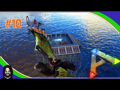 Modded Ark Dino Overhaul X: Ep10 Building the Ocean Rig