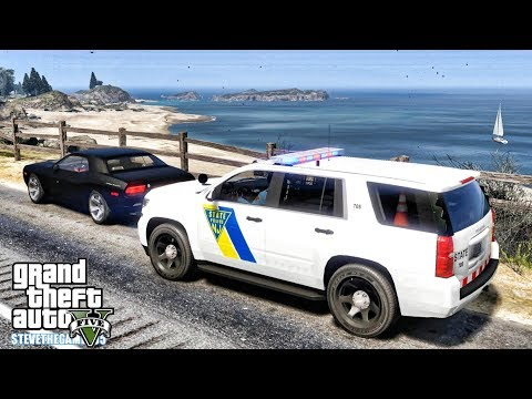 GTA 5 MODS LSPDFR 0.4.1 - NEW JERSEY STATE TROOPERS PATROL!!! (GTA 5 REAL LIFE PC MOD) thumbnail