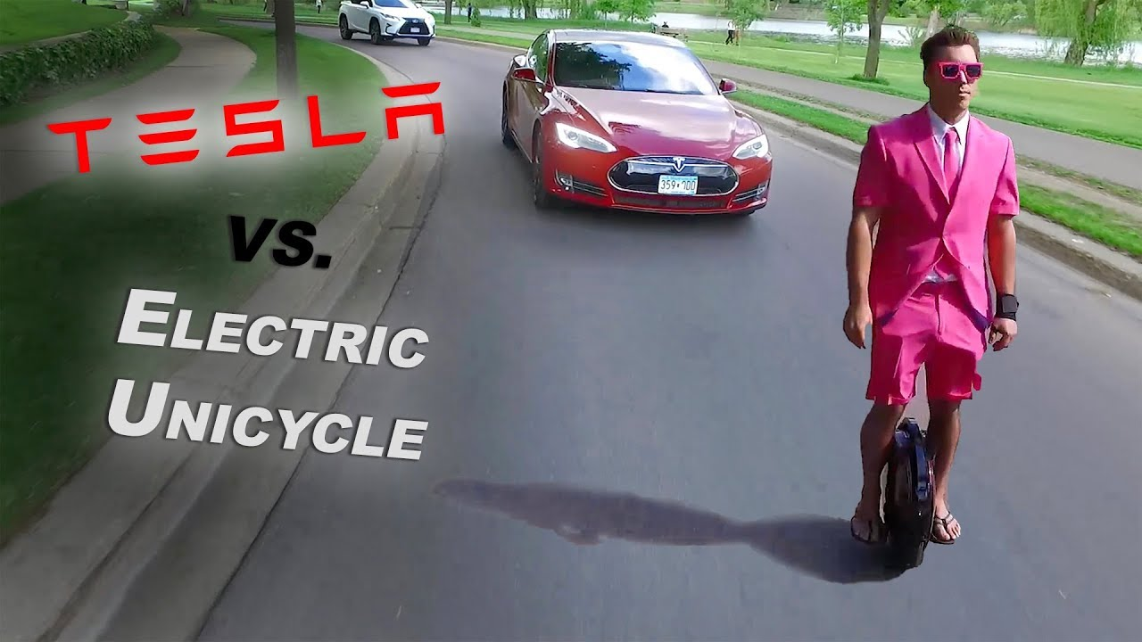 $1000 Electric Unicycle vs. $100,000 Tesla - Best Electric Commuter?