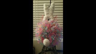 dollar tree bunny wreath altered
