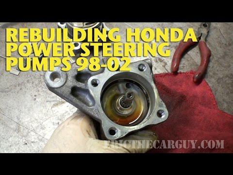 Honda Power Steering Pump Rebuild 98 02 EricTheCarGuy