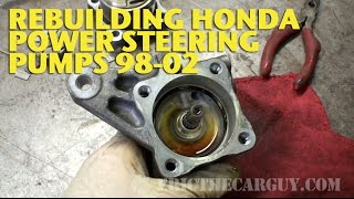 Honda Power Steering Pump Rebuild 98-02 -EricTheCarGuy