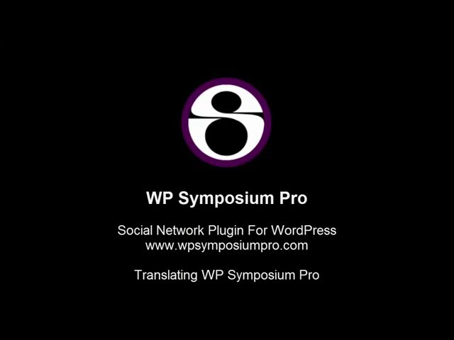 Translating WP Symposium Pro