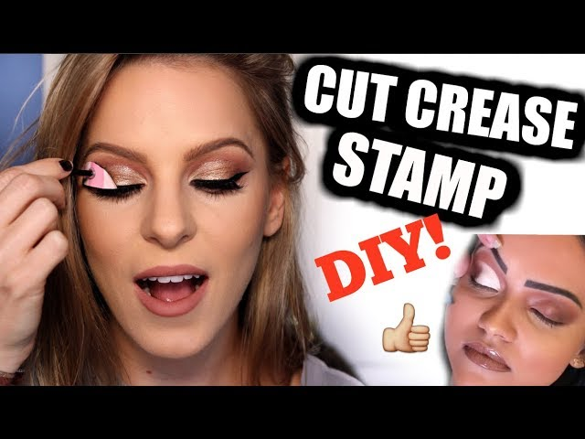 STAMP YOUR CUT CREASE IN SECONDS!? DIY Cut Crease Stamp Tool