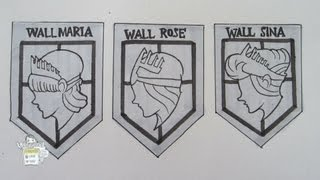 How to draw Wall Maria, Wall Rose and Wall Sina from Attack on Titan