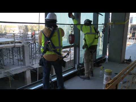 Harmon Inc Jobsite Curtain Wall Installation Youtube
