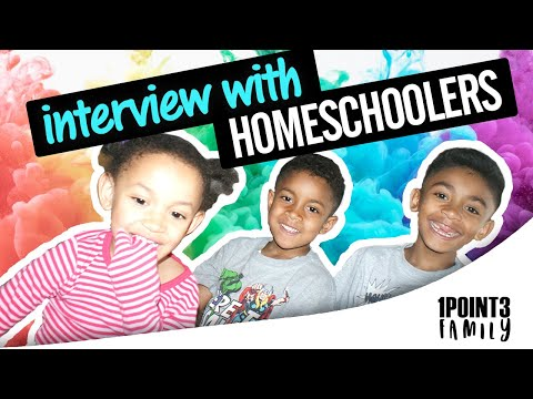 The children answer questions about home education