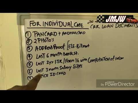 Car Finance Or Loans Documents