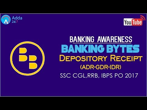 Banking Awareness | Depository Receipt (ADR - GDR- IDR ) | IBPS RRB | Online Coaching for SBI IBPS